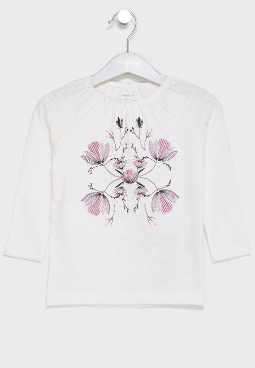 Infant Floral Print T-Shirt