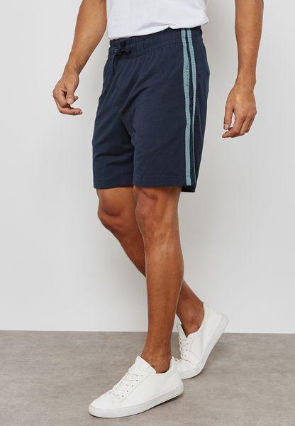 Contrast Trim Bermuda Shorts