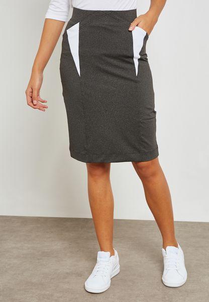Contrast Insert Detail Skirt