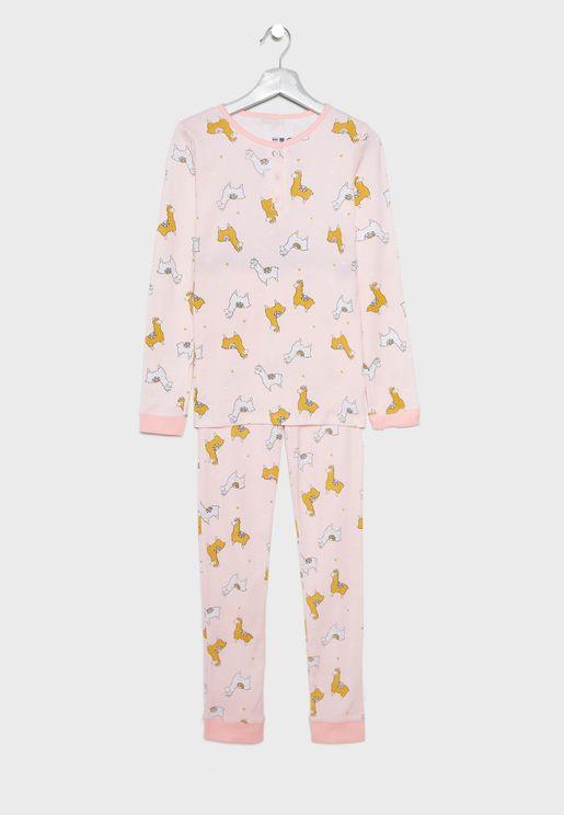 Kids Llama Pyjama Set