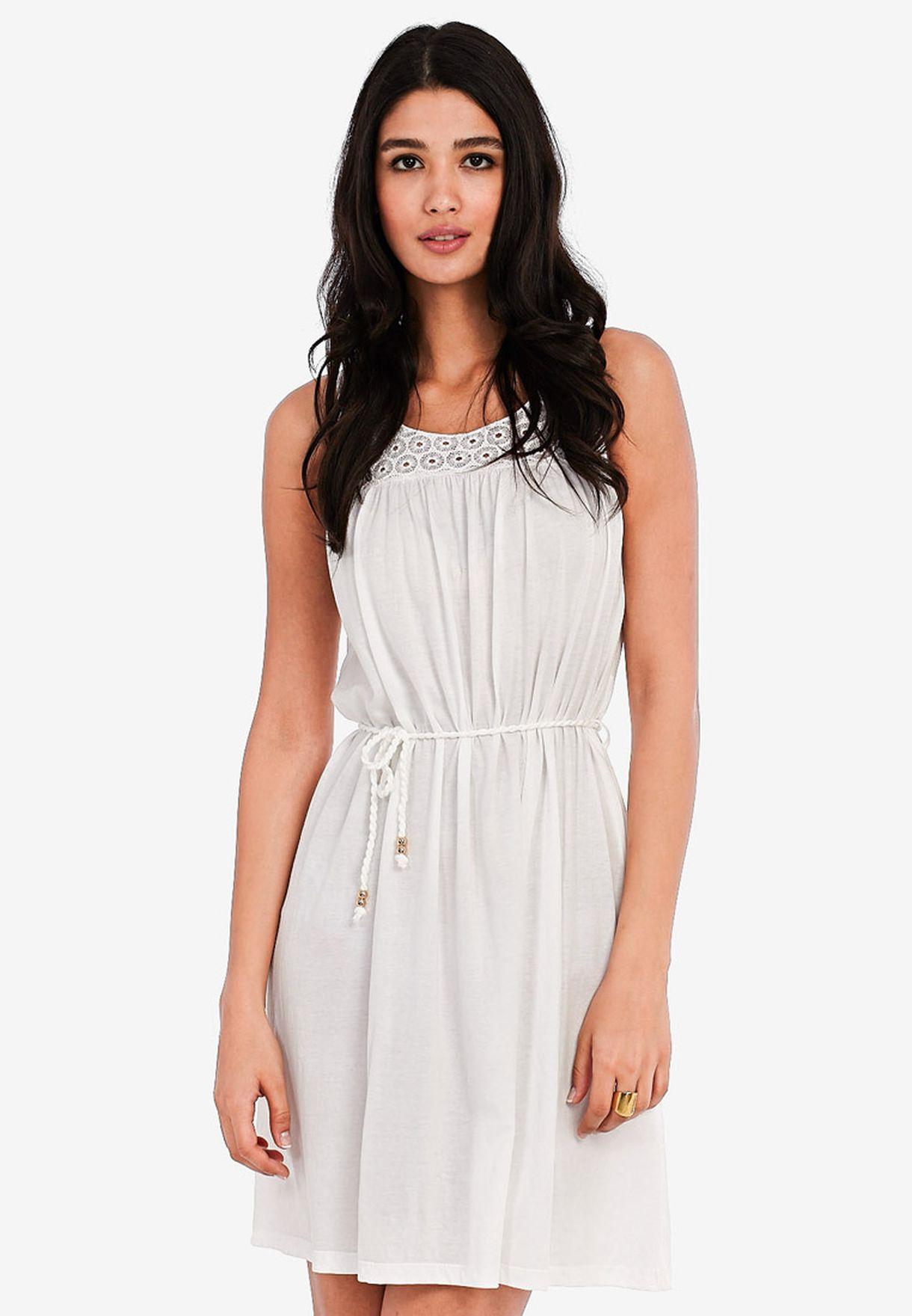 5ba2d998f389 Shop Vero Moda white Barcelona Short Dress for Women in Bahrain -  VE758AT16ZQP