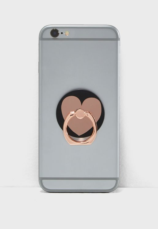 Rose Gold Heart Phone Ring