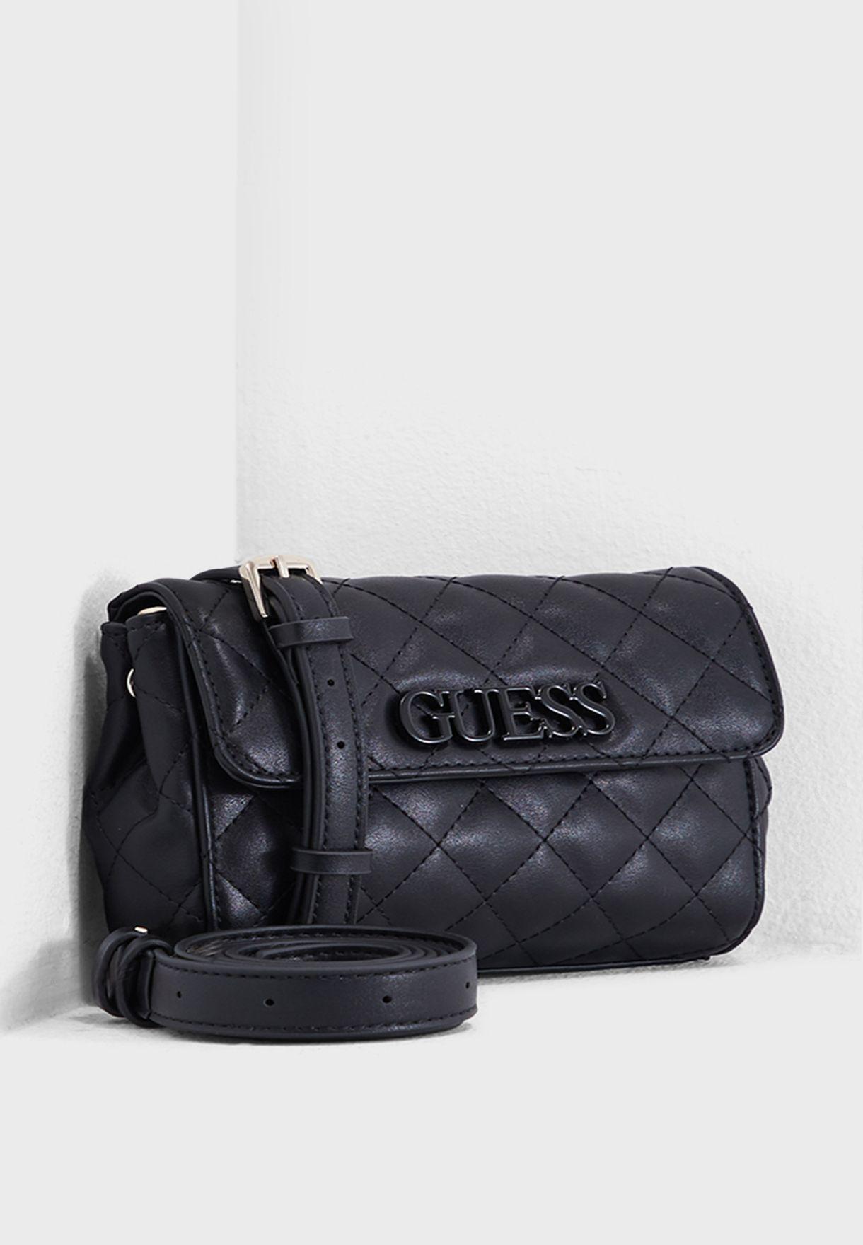 775c57e01 Shop Guess black Elliana Convertible Bum Bag VG730281BLA for Women ...