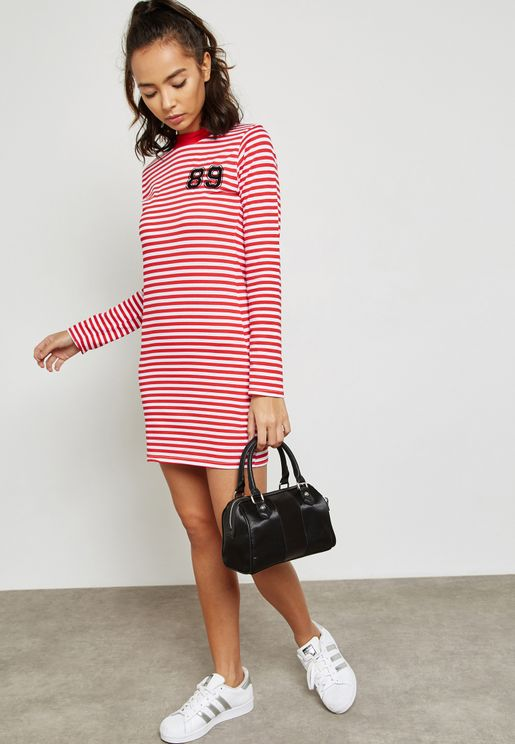 Stripe Detail Dress