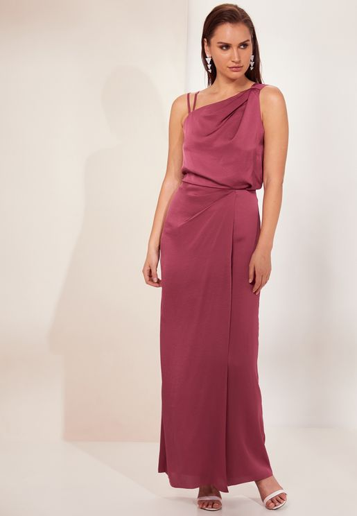 Ostia Front Twisted Maxi Dress