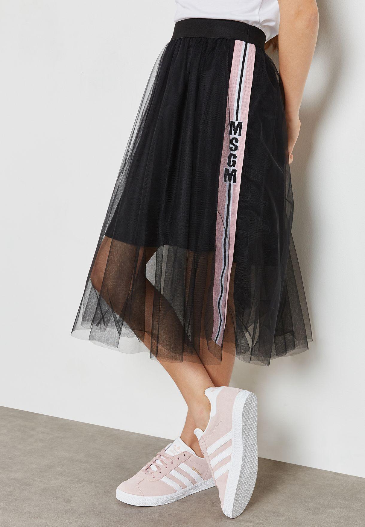 8caf9c6c08 Shop MSGM black Little Tulle Skirt 015711 for Kids in UAE - MS467AT16TIL