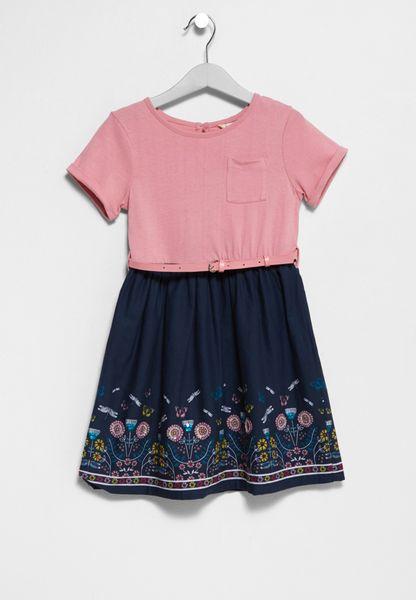 Tween Butterfly Print Dress