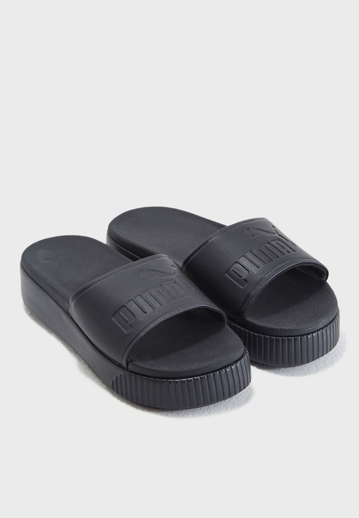 ea5dceba4c1fe4 Shop PUMA black Platform Slide Bold 36706401 for Women in UAE ...