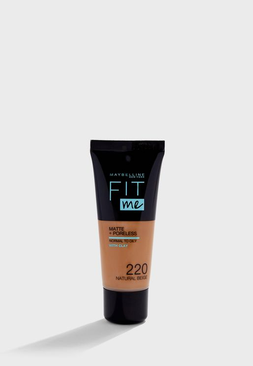 Fit Me Matte and Poreless Foundation 220 Natural Beige