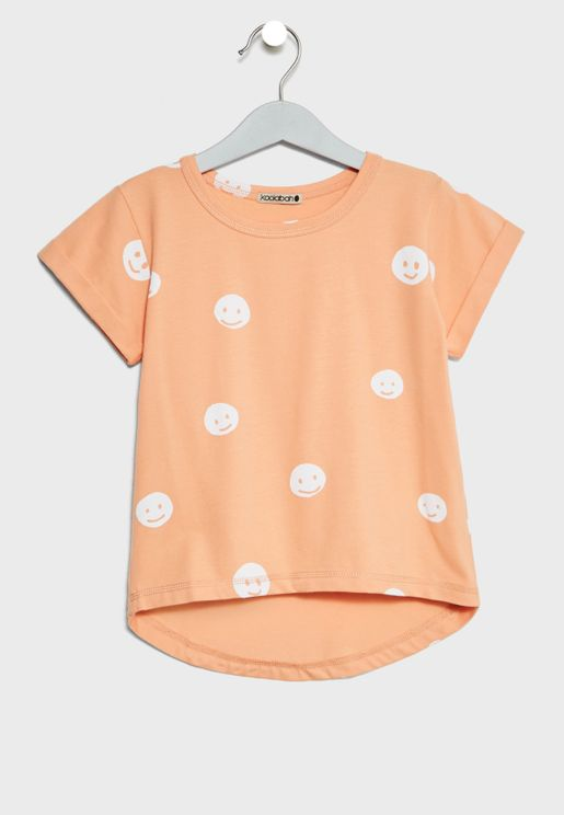 Little Smiley Print T-Shirt