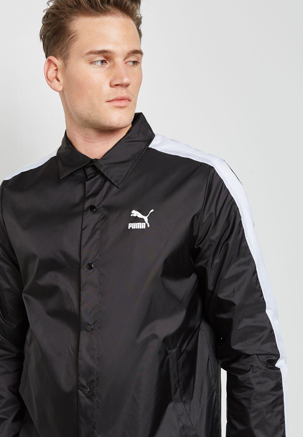 3d20f362ba5c Shop PUMA black Archive Coach Jacket 57568701 for Men in Kuwait ...