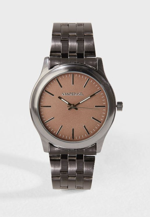 Formal Metal Strap Analog Watch