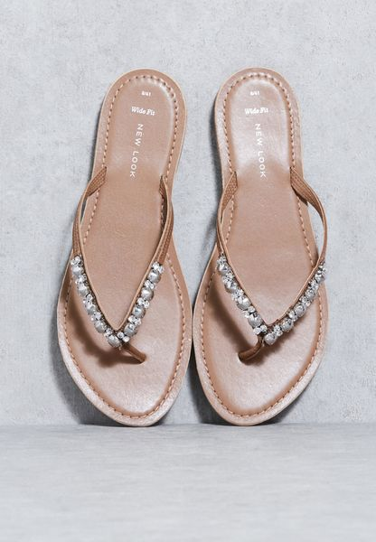 Embellished Thong Sandals