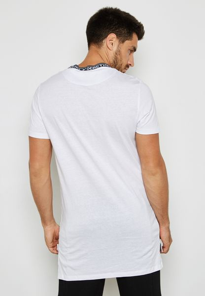 New Look. Text Neck Print T-Shirt