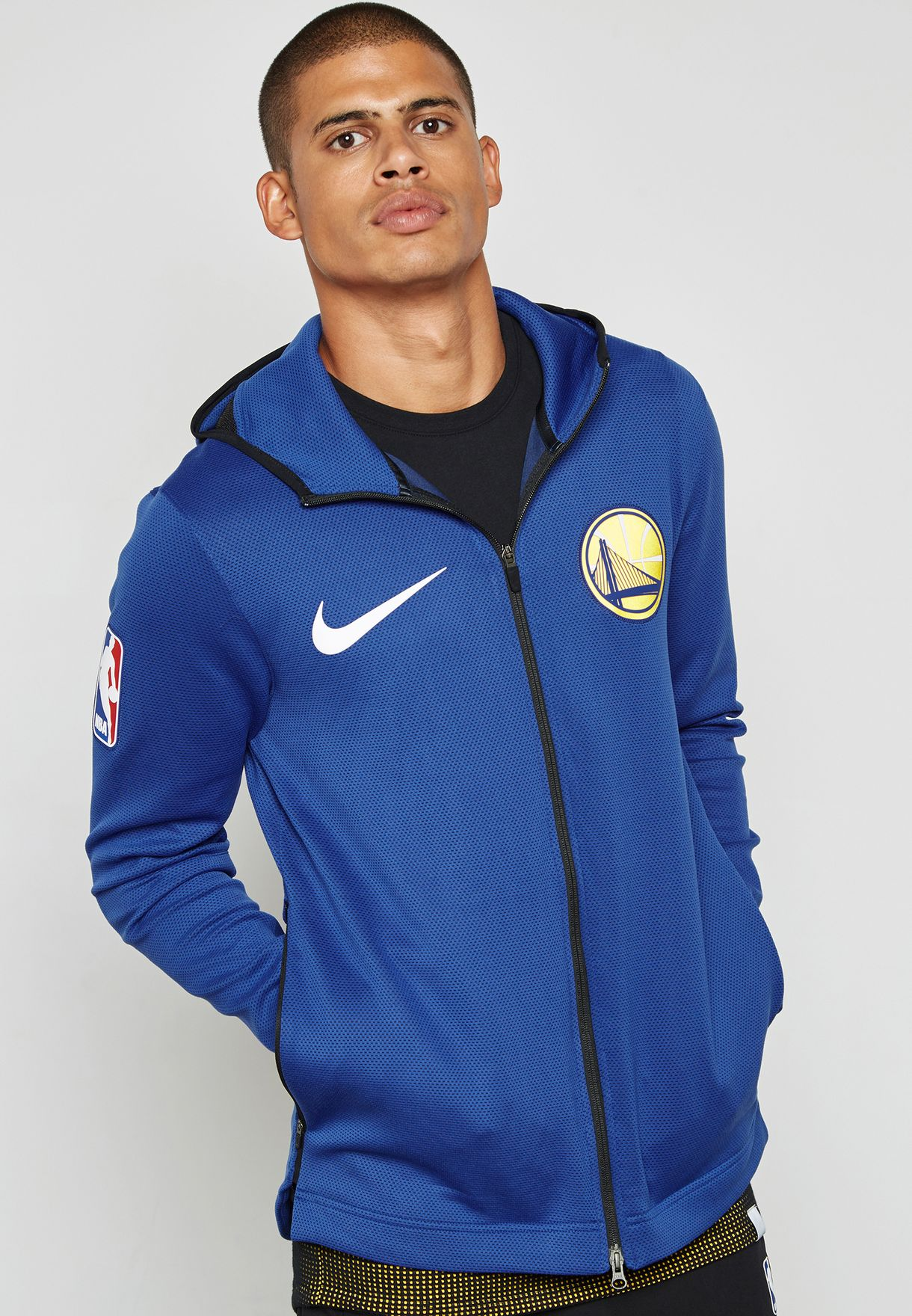 3dabe56c22a Shop Nike blue Golden State Warriors Showtime Hoodie 899840-495 for ...