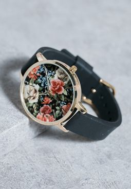 Romantic Floral Dial Watch