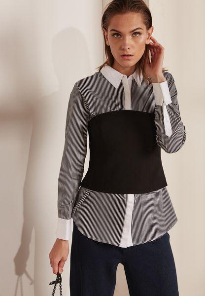 Striped Bustier Shirt