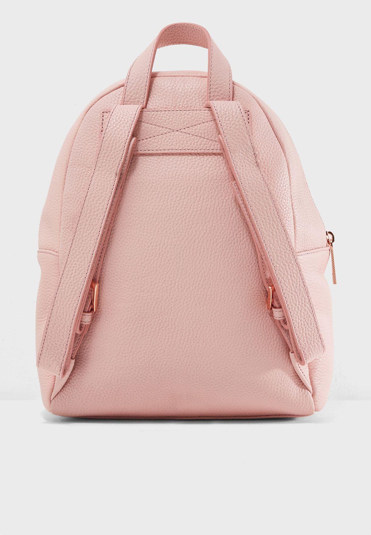 Shop Ted Baker Pink Pearen Soft Grain Backpack 143201 For