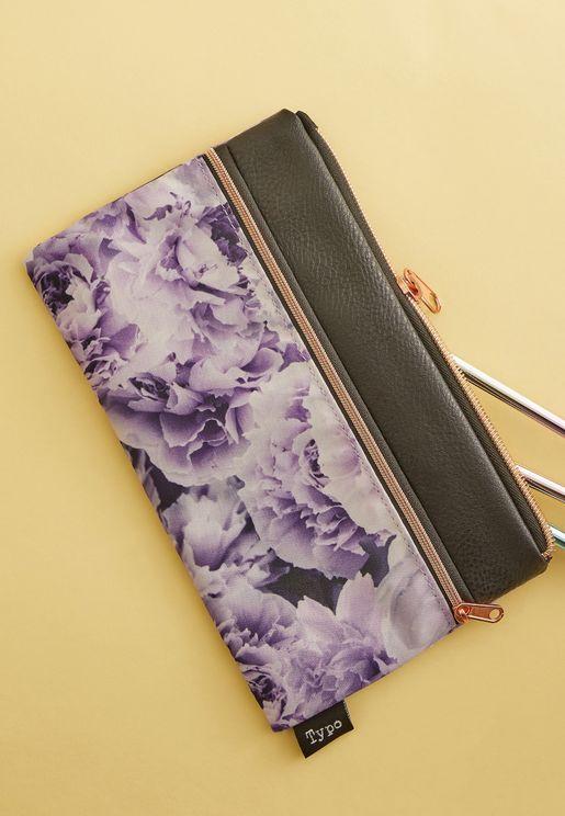 Lilac Peonies Archer Pencil Case