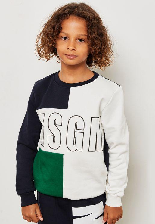 Kids Logo Color Block Sweatshirt