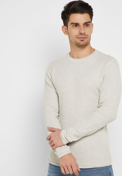 Waffle Knitted Sweater