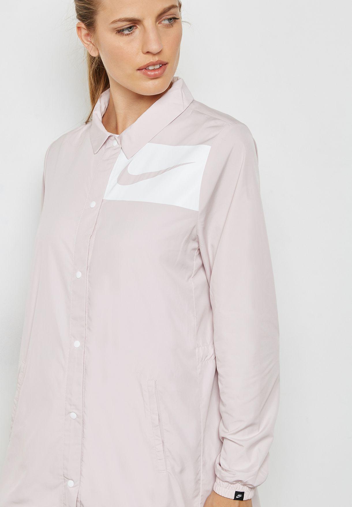 3636700eef Shop Nike pink Swoosh Jacket 893029-699 for Women in Saudi ...