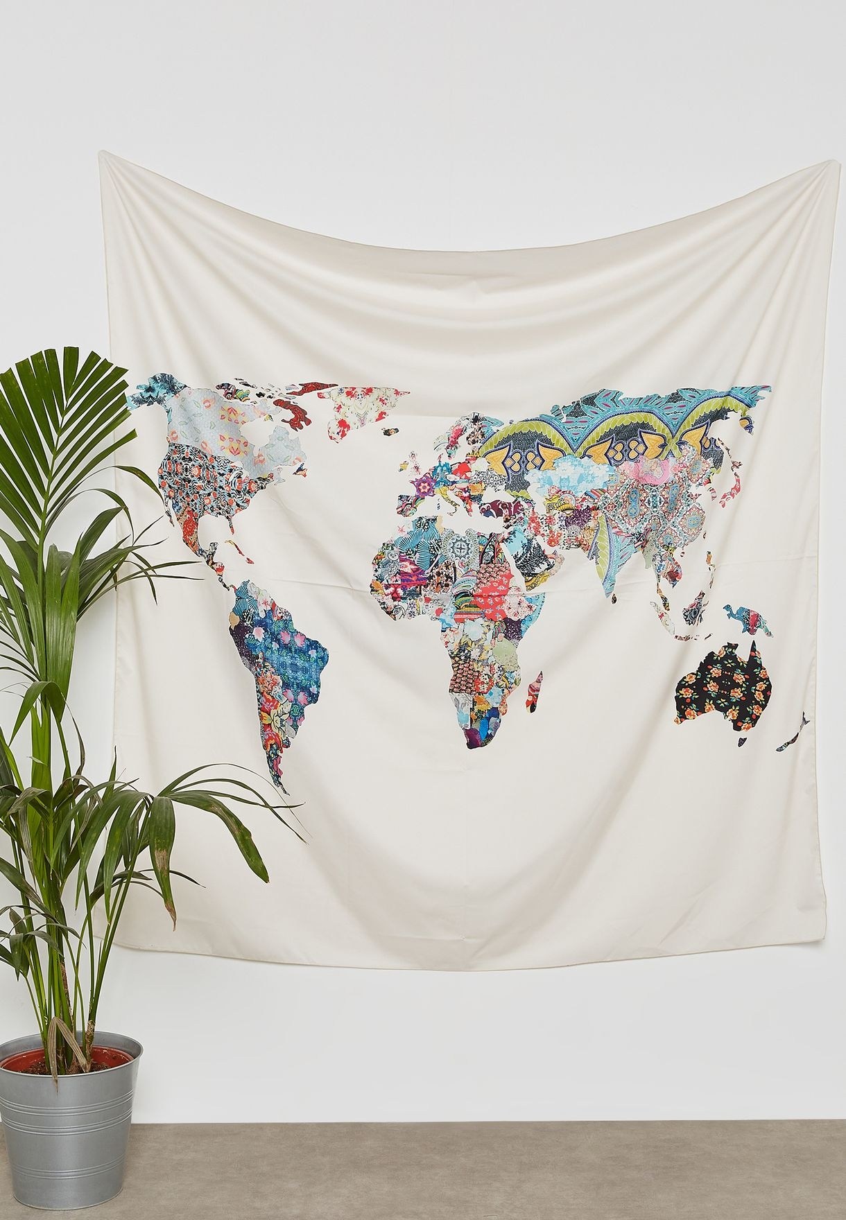 Patterned  Maps Tapestry