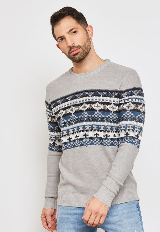 Jacquard Panel Jumper