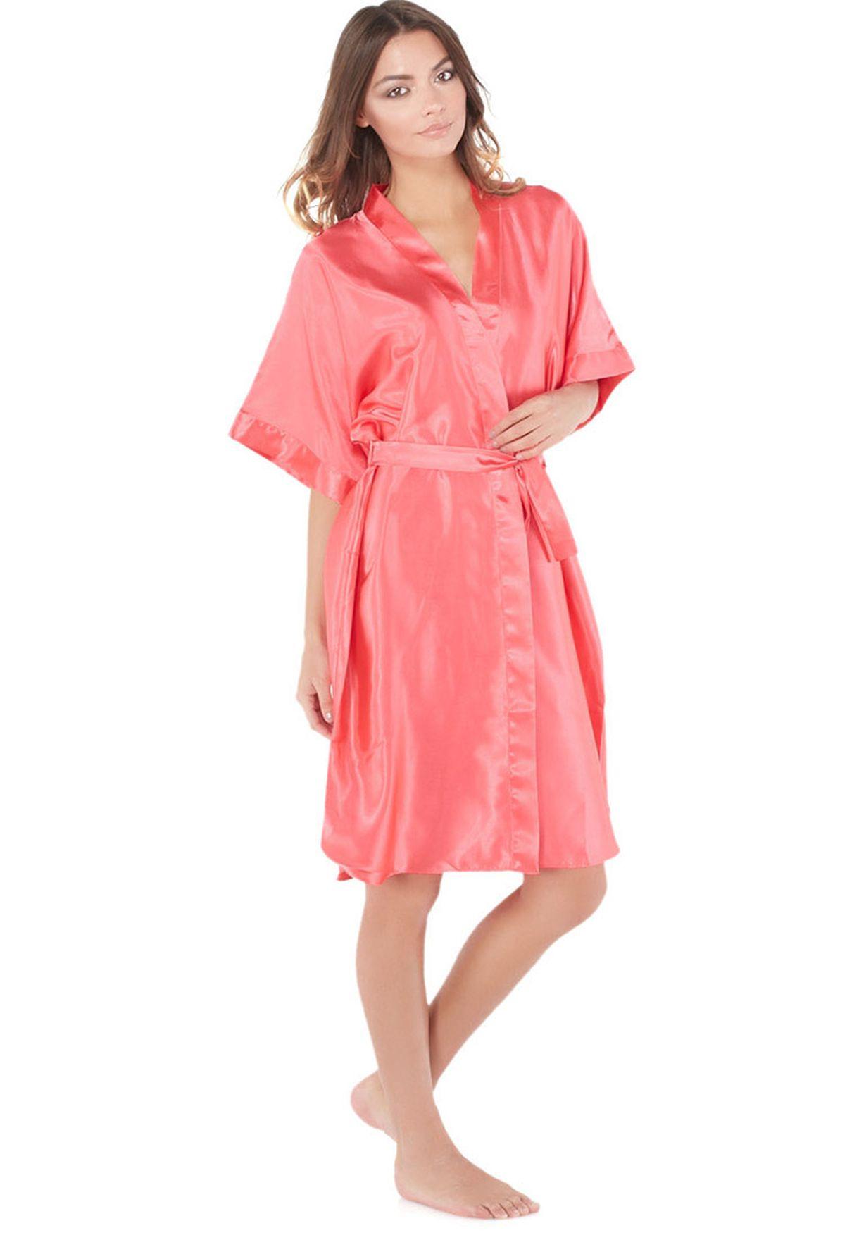 Shop Brassi Belweiss pink Dressing Gown Robe for Women in Saudi ...
