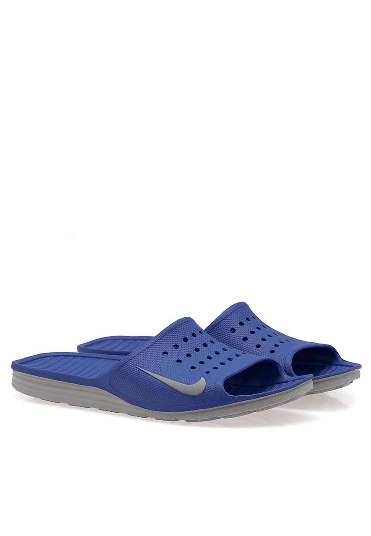 e14f8fc4a5f09f Shop Nike blue Solarsoft Slide Casual Sandal 386163-405 for Men in Qatar -  NI727SH06CAN
