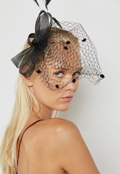 Mesh Feather Fascinator