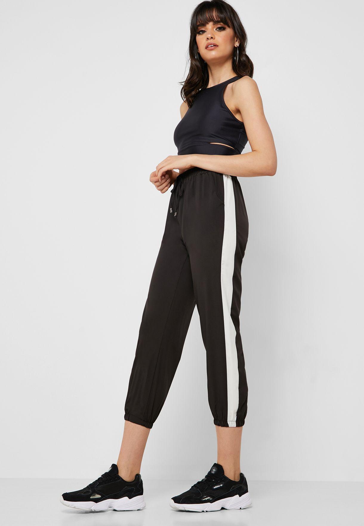 Contrast Side Paneled Jogger Pants