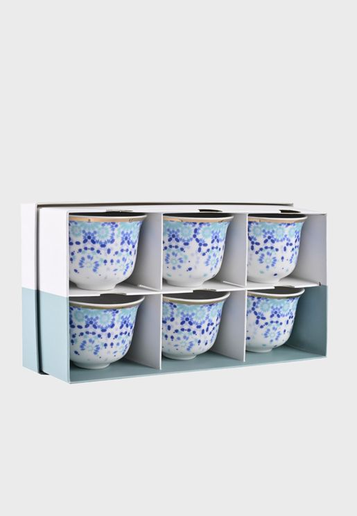 6 Mirrors Arabic Coffee Cup Set