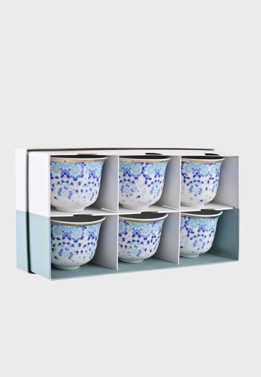 مجموعة من 6 فناجين قهوة عربية