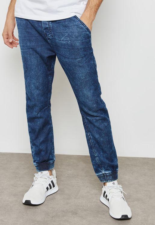 بنطال جينز بأساور