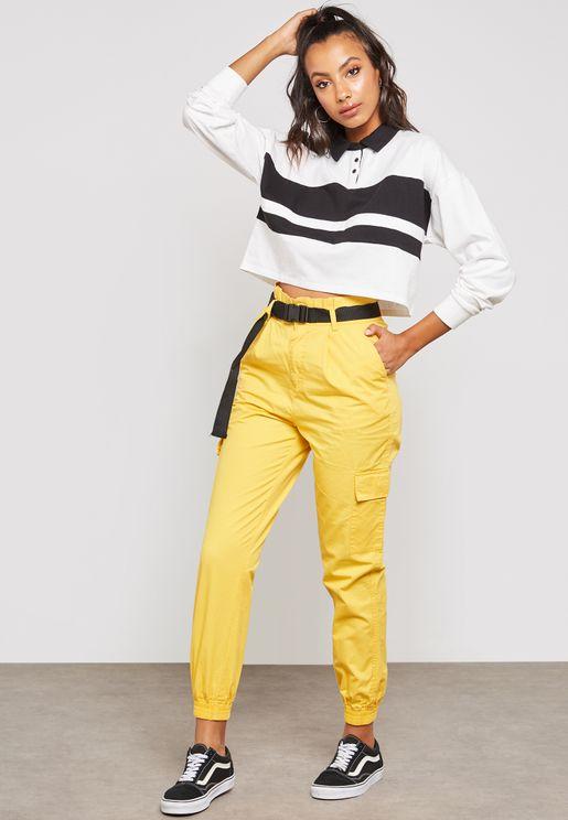 Belted Side Pocket Pants