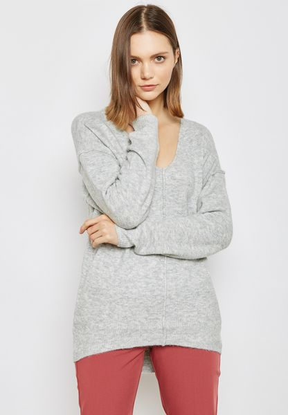 Long Line V-Neck Sweater
