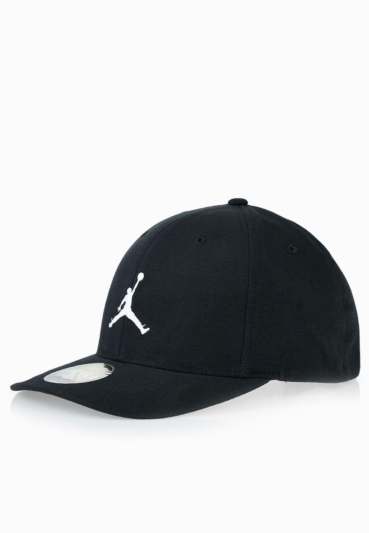 e5f053a30e2 Shop Nike black Jordan Flex Fit Cap 606365-014 for Men in UAE ...