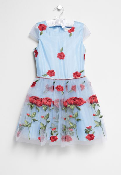 Tween Embroidered Floral Dress