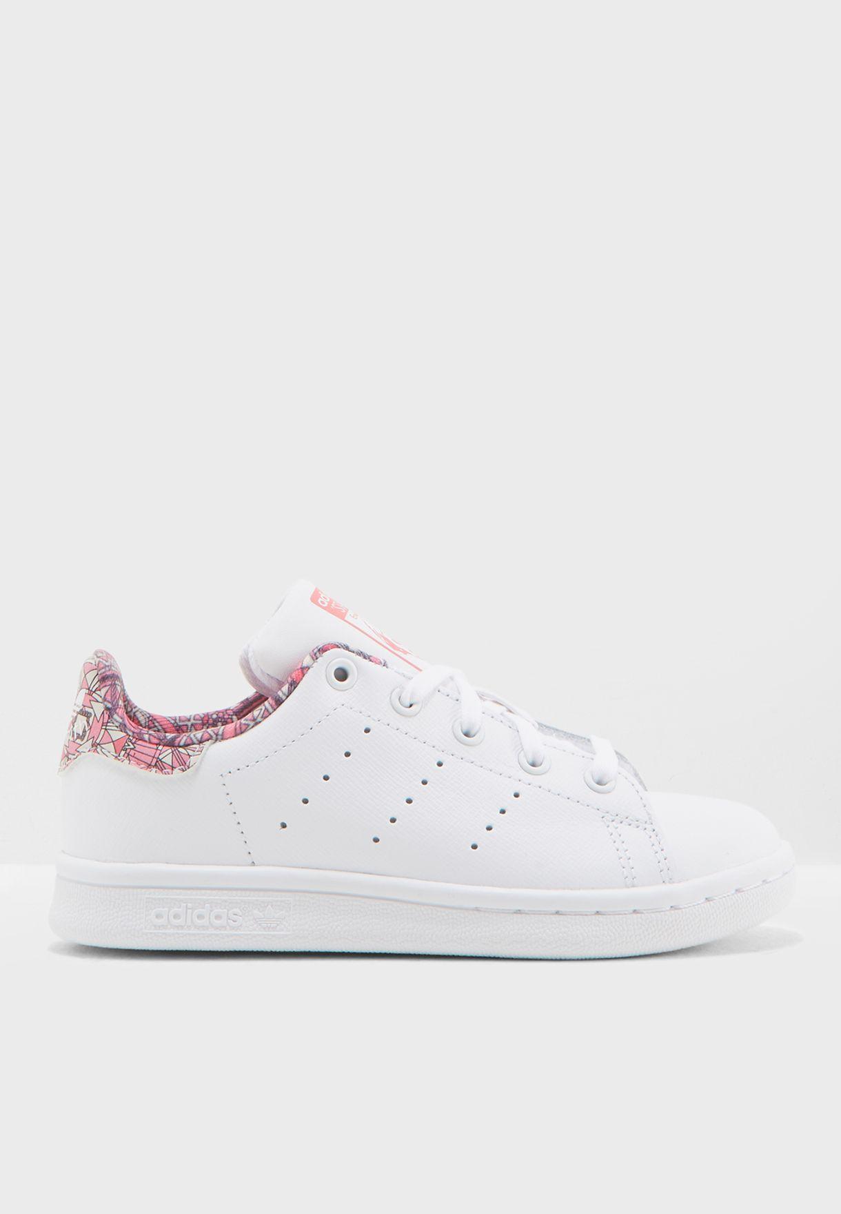 634c31a13 تسوق حذاء ستان سميث جلد أصلي ماركة اديداس اورجينال لون أبيض CM8173 ...