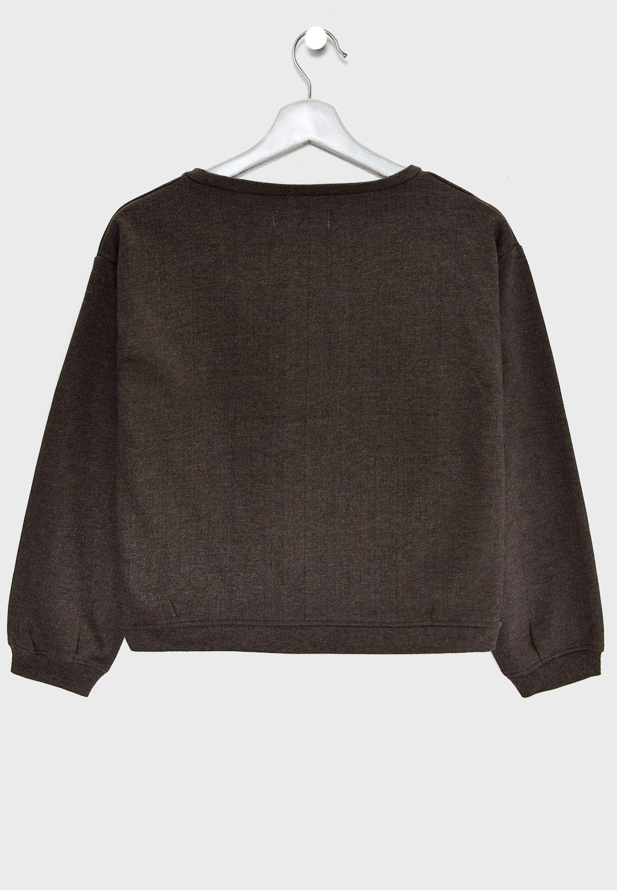 Teen Slogan Sweatshirt