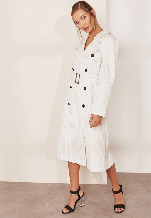 Rosaline Belted Trench With Detachable Sleeves