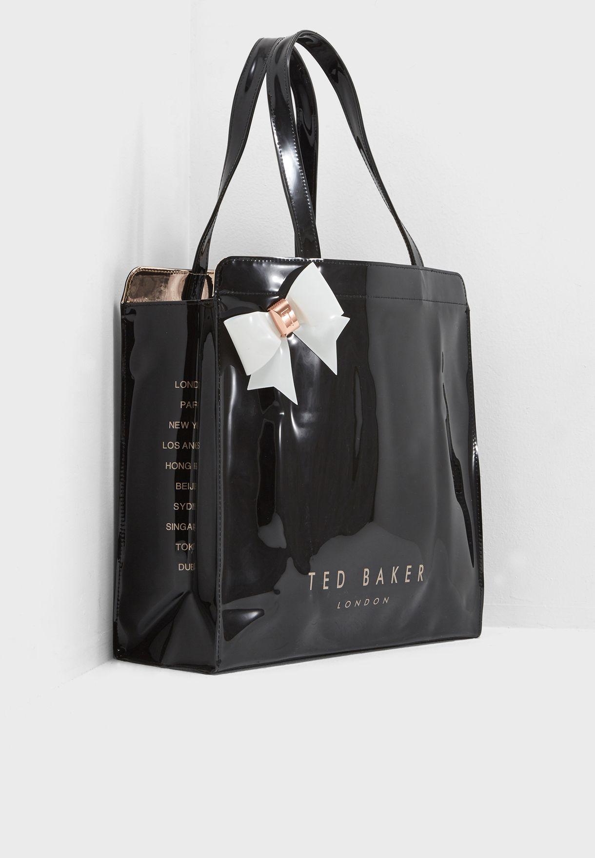 b6e8216baa51 Shop Ted baker black Auracon Large Bow Shopper 146493 for Women in UAE -  TE456AC06XCV