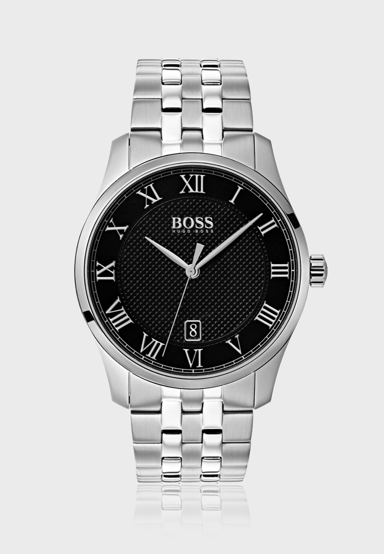 2ffe56d749a4 Shop Hugo Boss silver Master Watch 1513588 for Men in Qatar - HU783AC06LHD