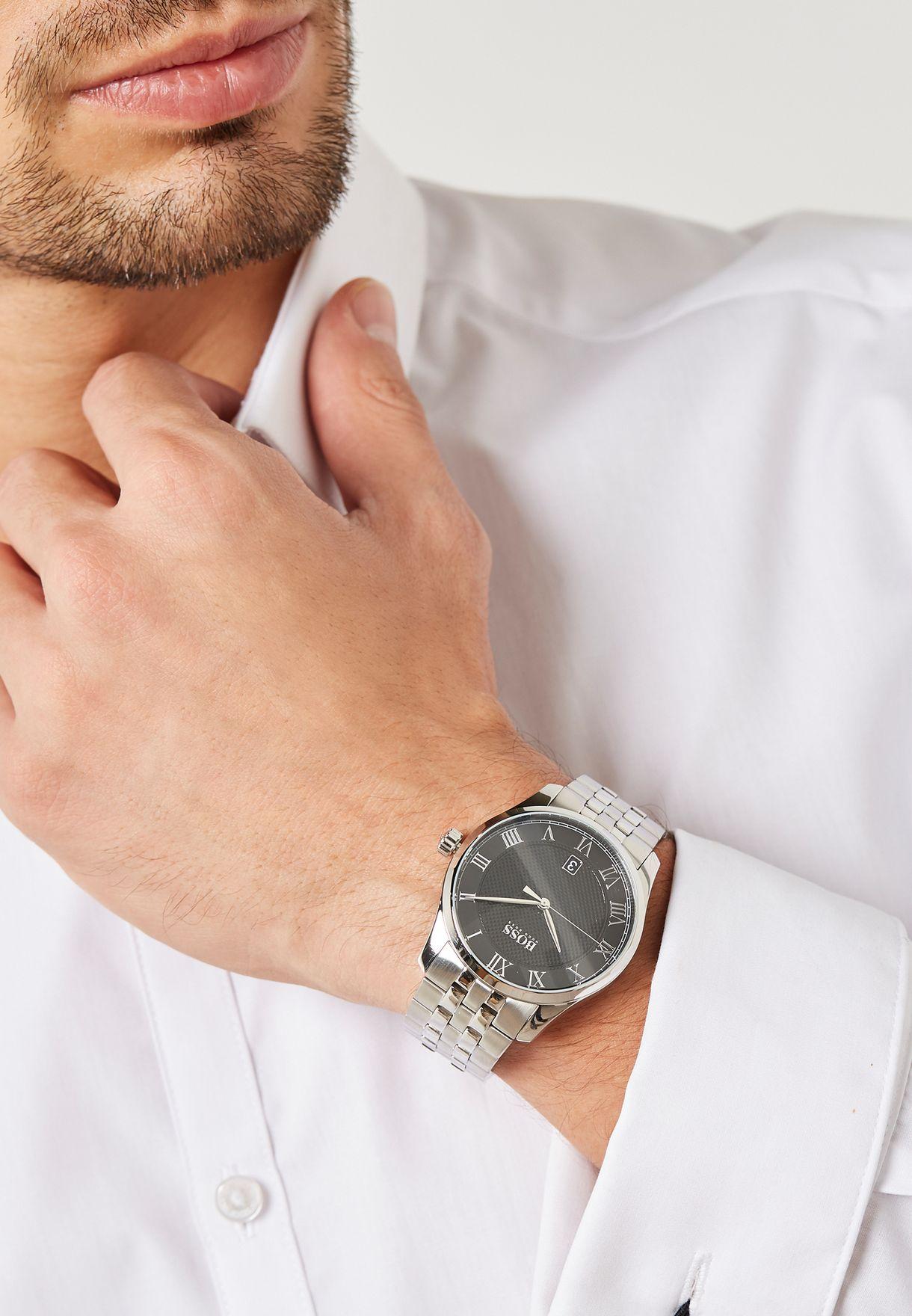 6b13e46b9e Shop Hugo Boss silver Master Watch 1513588 for Men in Oman ...