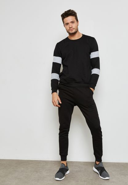 Colour Block Sleeve Tracksuit