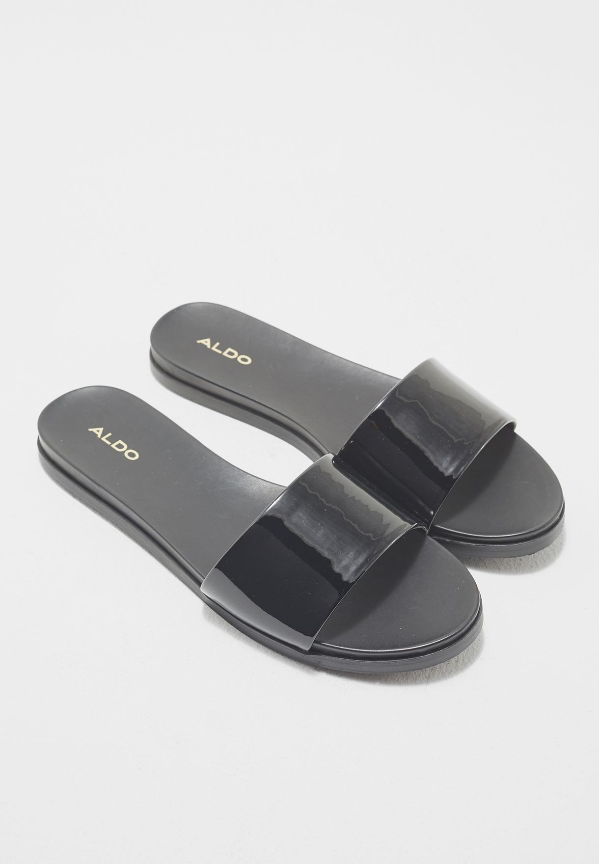 6a8c36f91e0 Shop Aldo black Fabrizzia Slide FABRIZZIA U95 for Women in Qatar -  AL729SH06DFT