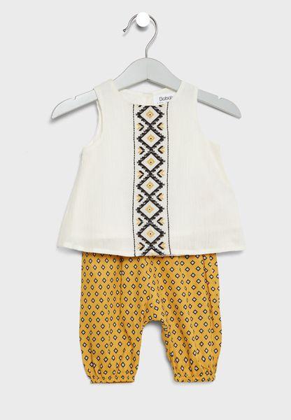 Infant Top + Harem Pants Set