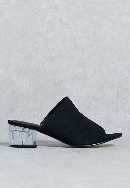 Block heel mule