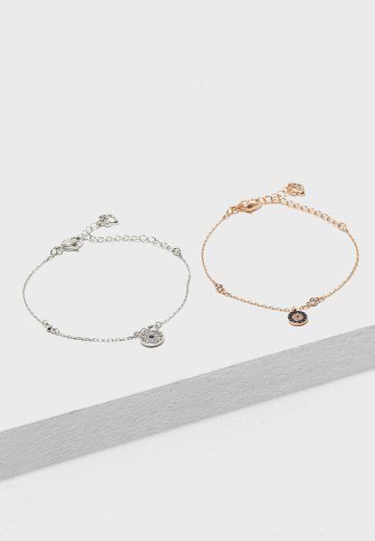 Crystal Wishes Evil Eye Bracelet Set